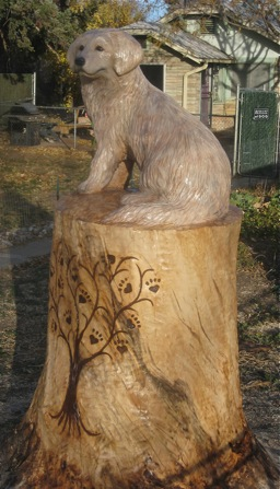Hollow log u2014 tree carving chainsaw carving and sculpture; serving