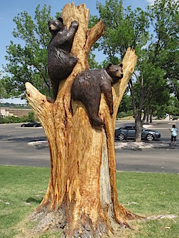 Hollow log u tree carving chainsaw carving and sculpture